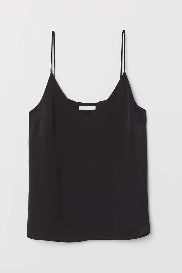 V-neck Camisole Top - Black