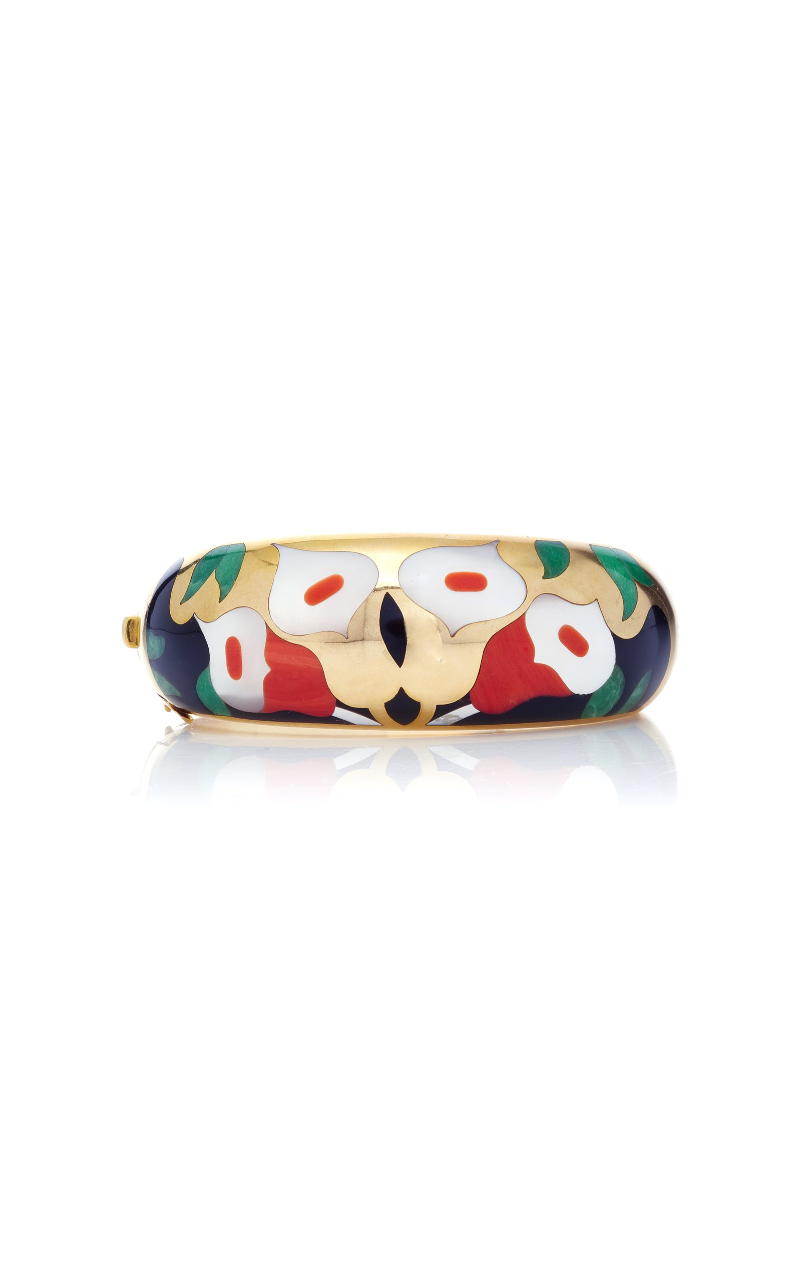 14K Gold And Pearl Bracelet by Vintage Asch Grossbardt   Moda Operandi