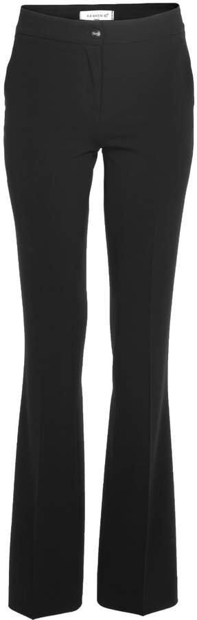Via Masini 80 - Black Comfort Cady Trousers With Pockets
