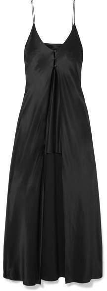 Silk-satin Camisole - Black