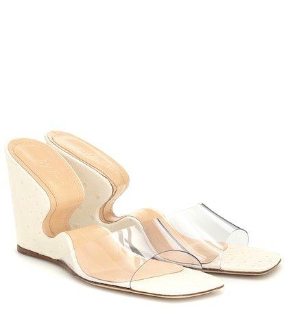 Greta PVC and leather sandals