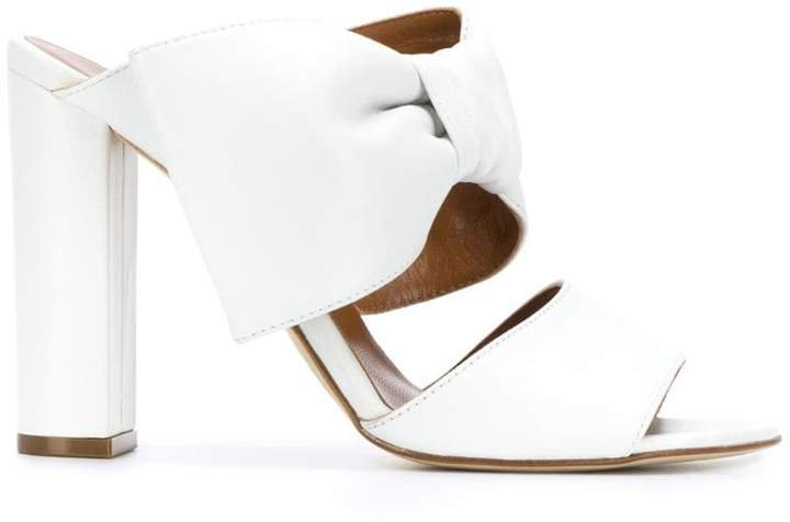 bow detail high-heel mules