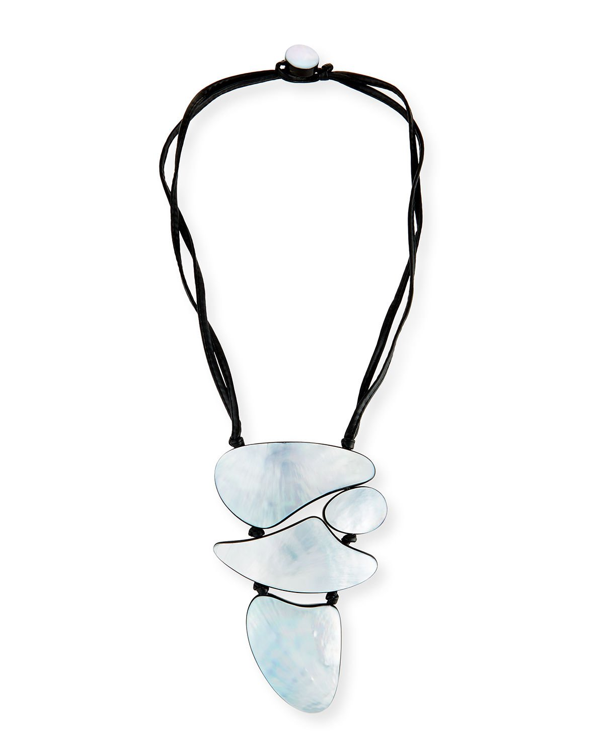 "Viktoria Hayman 21"" Freeform Mother-of-Pearl Pendant Necklace"