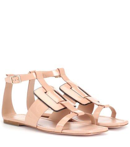 Viv' Sellier patent leather sandals