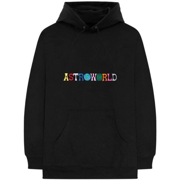 Travis Scott Astroworld Wish You Were Here Hooded Sweatshirt Extra Large Black | WyCo Vintage
