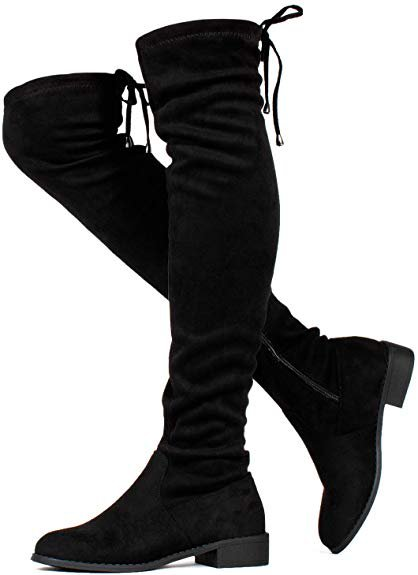 Amazon.com | RF ROOM OF FASHION Women's Stretchy Over The Knee Riding Boots | Over-the-Knee