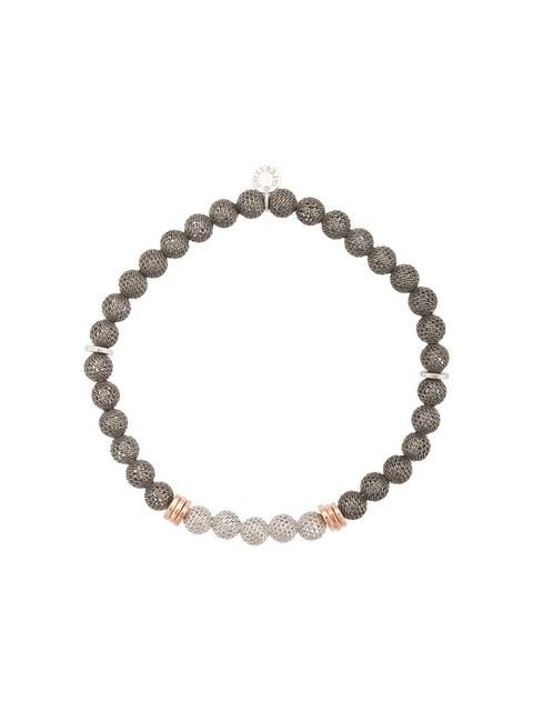 Tateossian mesh beaded bracelet