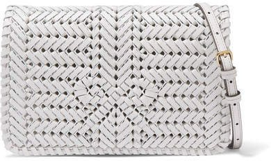 Neeson Woven Leather Shoulder Bag - Off-white