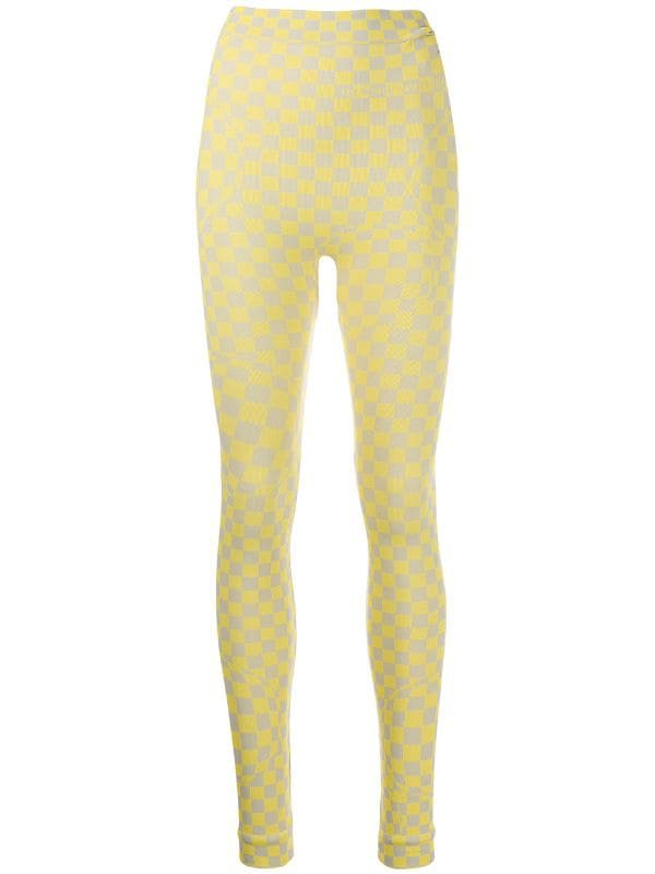 Off-White Checkerboard Leggings | Farfetch.com