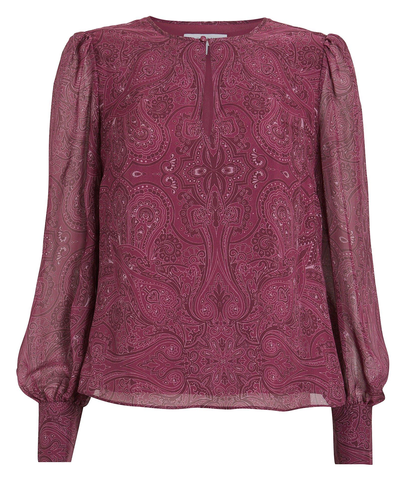 Kiera Paisley Silk Blouse