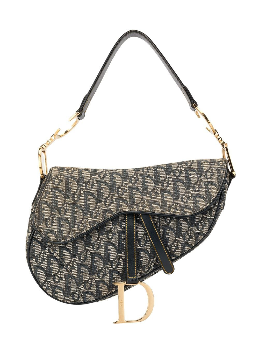 Christian Dior Pre-Owned Trotter Pattern Saddle Shoulder Bag - Farfetch