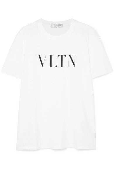 Valentino | Printed cotton-jersey T-shirt