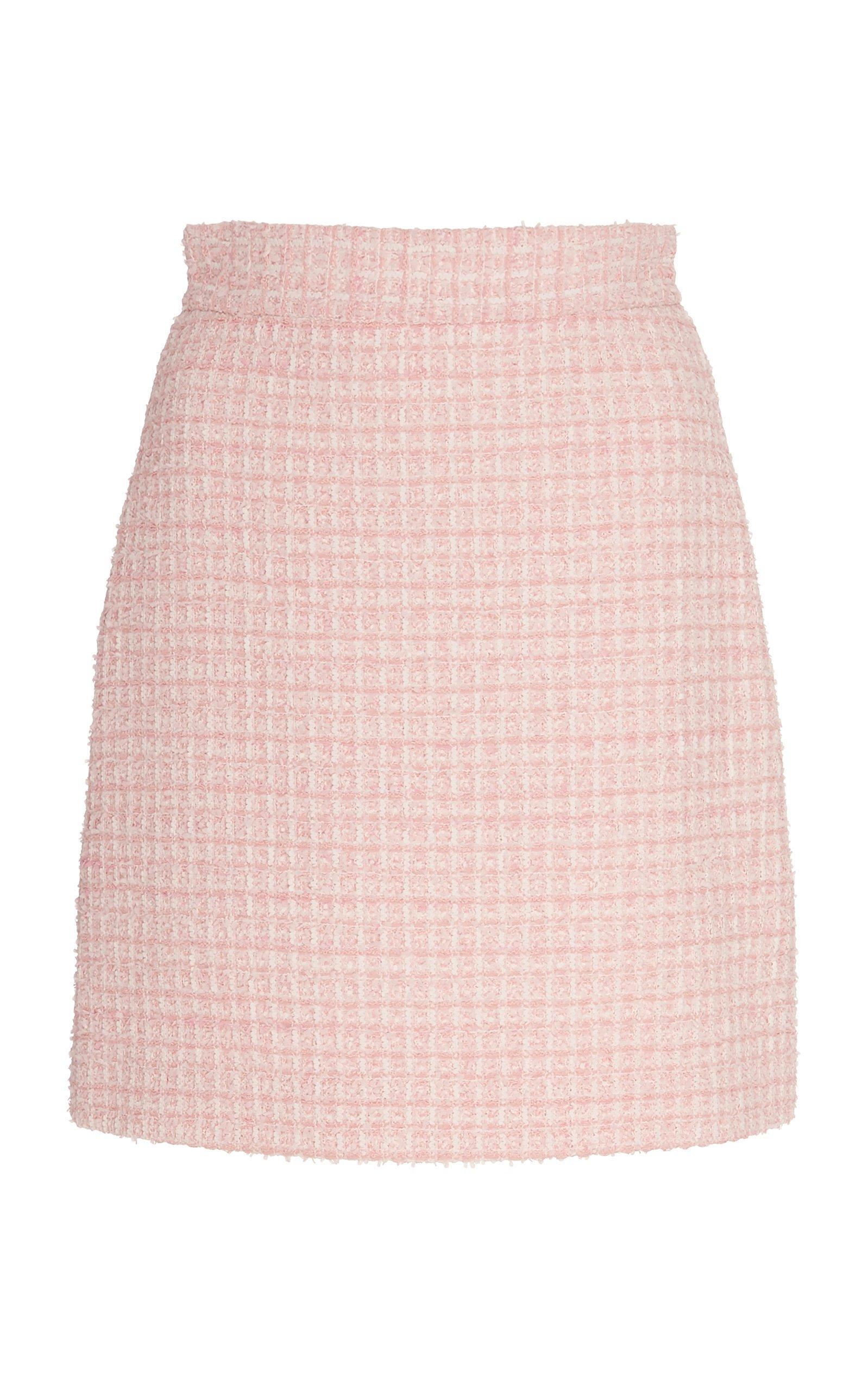 SOONIL Pink Tweed Mini Skirt Size: 12