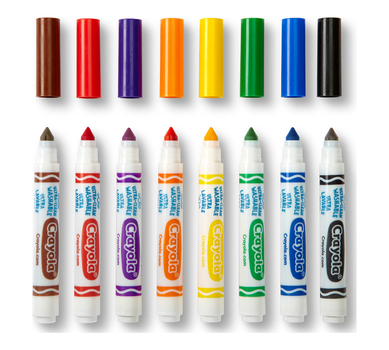 Ultra-Clean Washable Markers, Broad Line, 8 Count | Crayola.com | Crayola