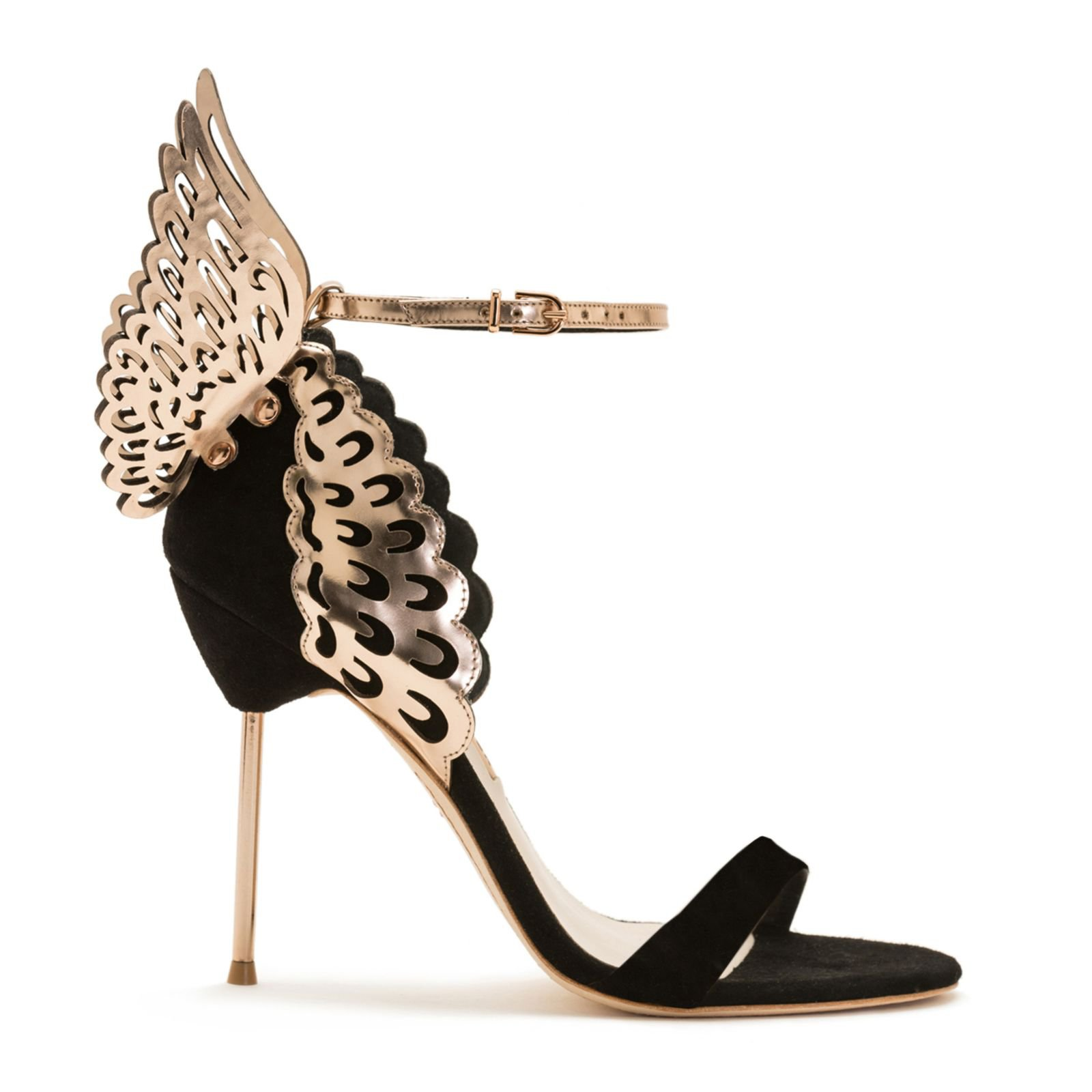 Black and Gold angel pumps