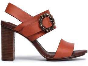 Buckle-embellished Leather Sandals