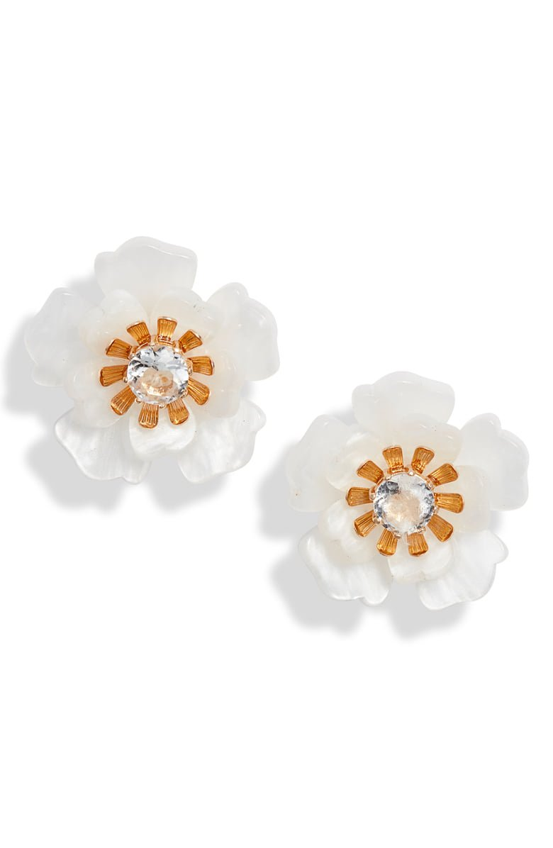 Rachel Parcell Floral Statement Button Stud Earrings (Nordstrom Exclusive) | Nordstrom