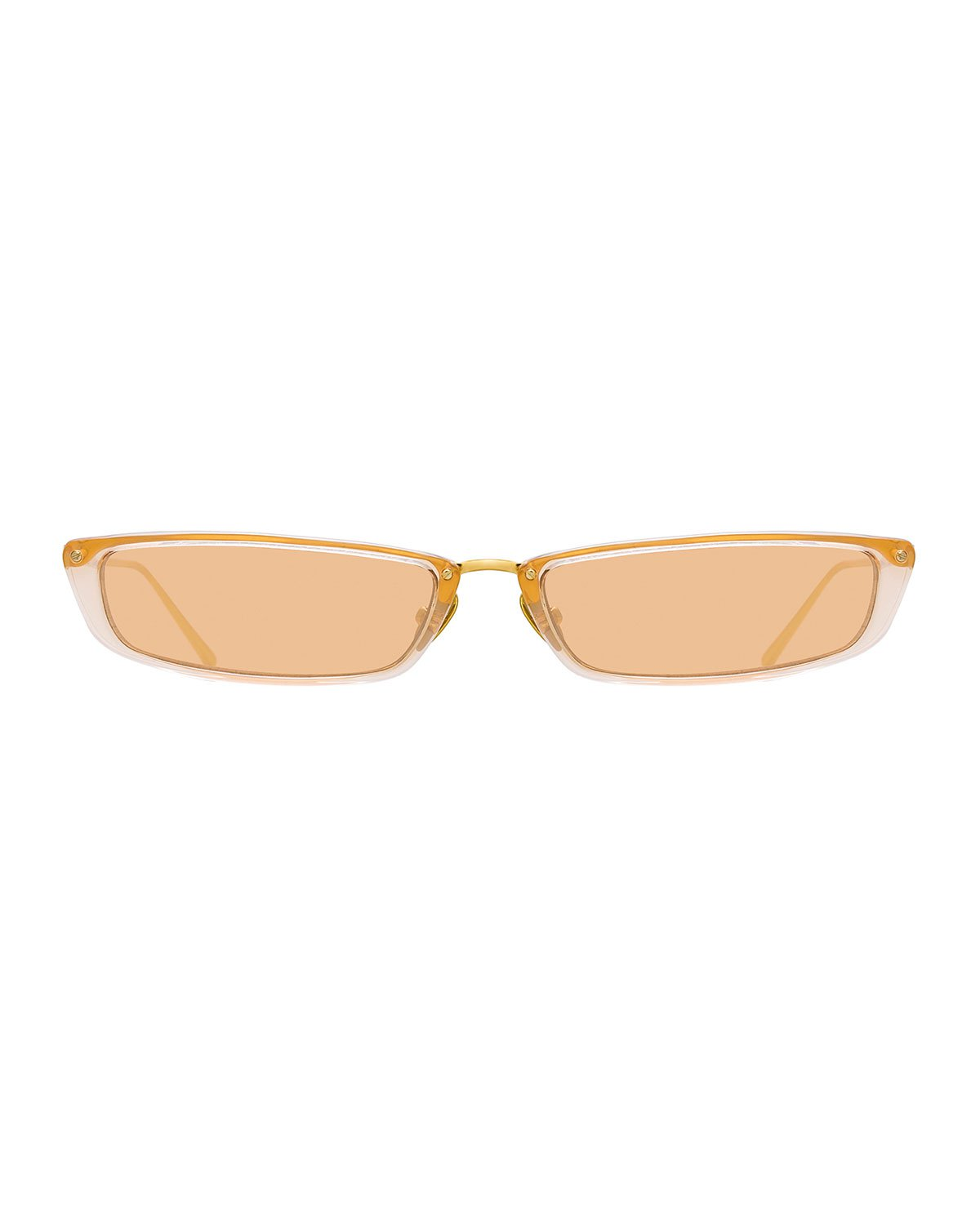 Linda Farrow Slim Rectangle Sunglasses