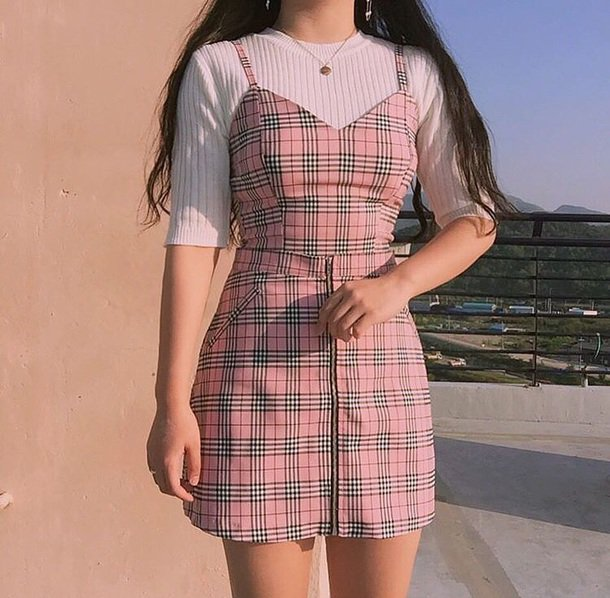 red plaid skirt outfit - Google Search