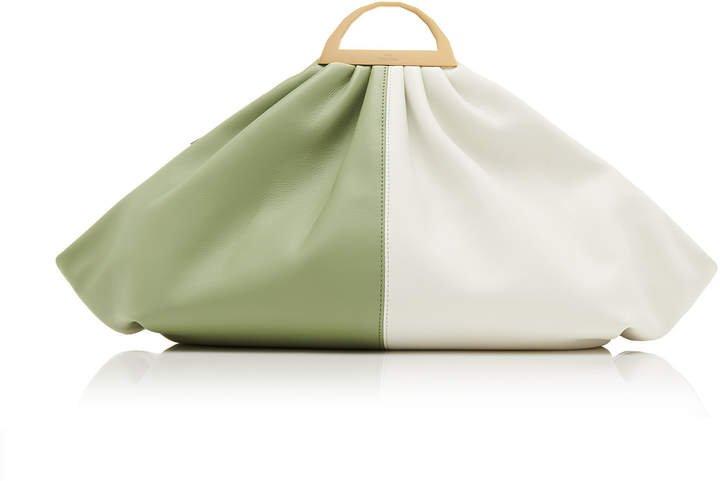 The Volon Gabi Color Block Leather Clutch