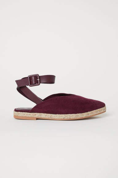 Espadrilles with Ankle Strap - Red