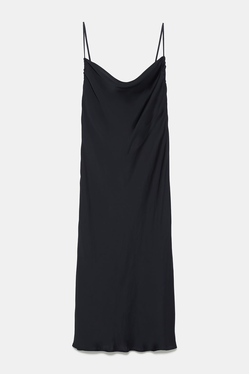 SLIP DRESS WITH STRAPS - NEW IN-WOMAN-NEW COLLECTION | ZARA United States black