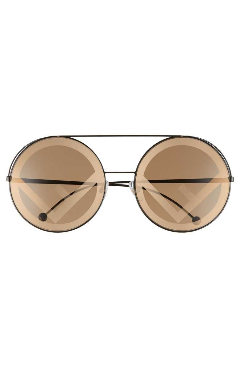 Fendi Run Away 63mm Round Sunglasses | Nordstrom
