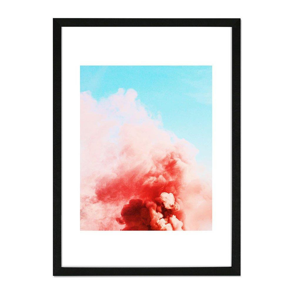 Monde Mosaic Candy Smoke Framed Print