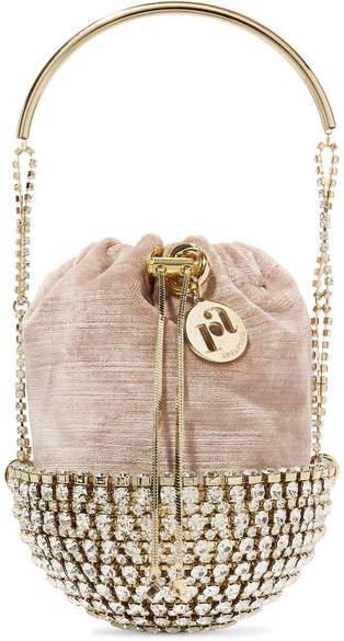 Kingham Embellished Velvet Clutch - Gold