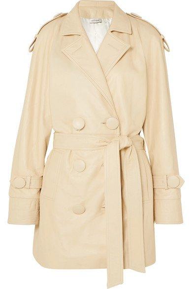 Attico | Leather trench coat | NET-A-PORTER.COM