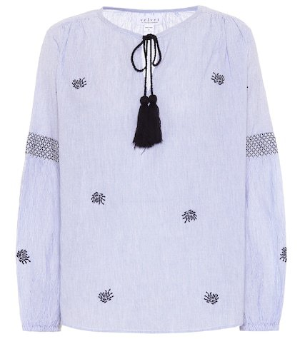 Aimee embroidered cotton top