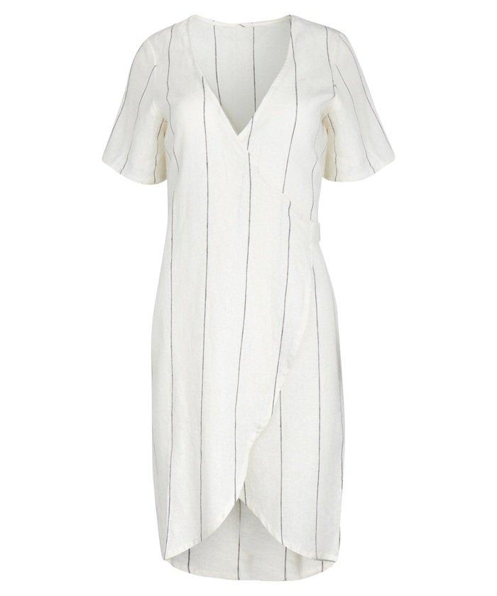 Women's Linen Wrap Dress - Postie
