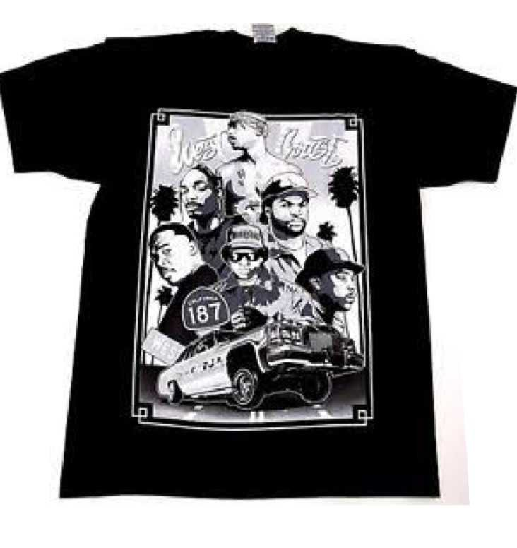 90s Westcoast Rappers Graphic Tee