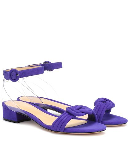 Vicky PVC and suede sandals