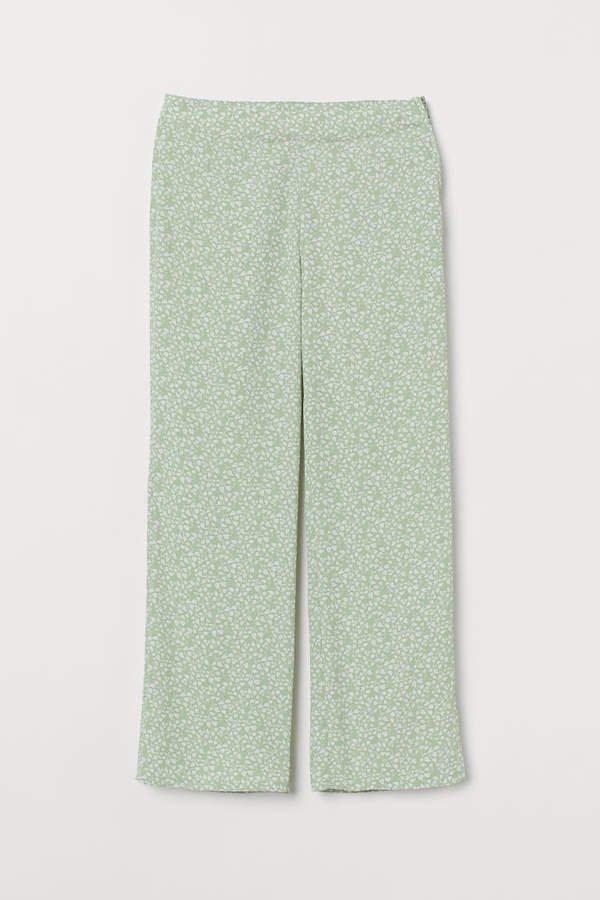 Wide-leg Pants - Green