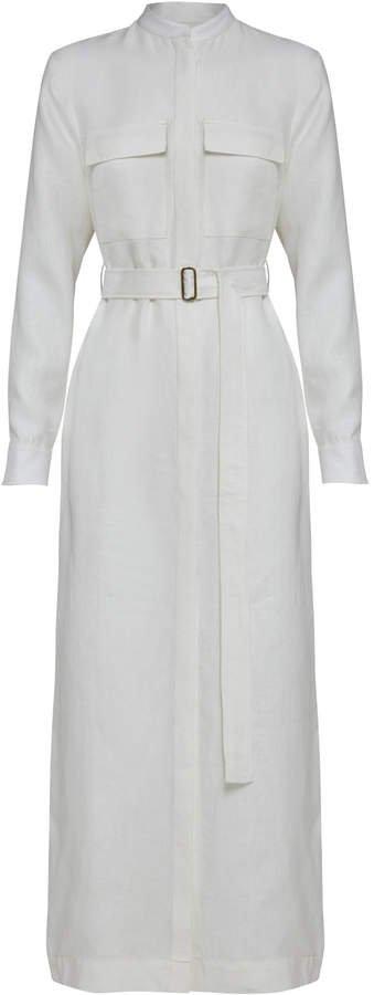Bondi Born Utility Linen Shirt Dress Size: XS