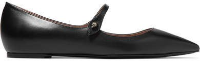 Hermione Leather Point-toe Flats - Black