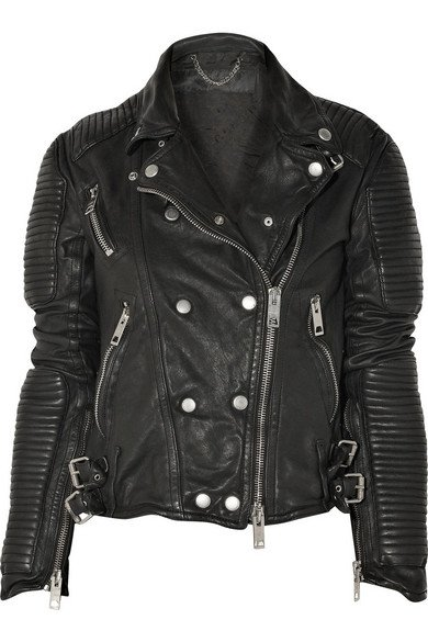 Burberry | Quilted leather biker jacket | NET-A-PORTER.COM
