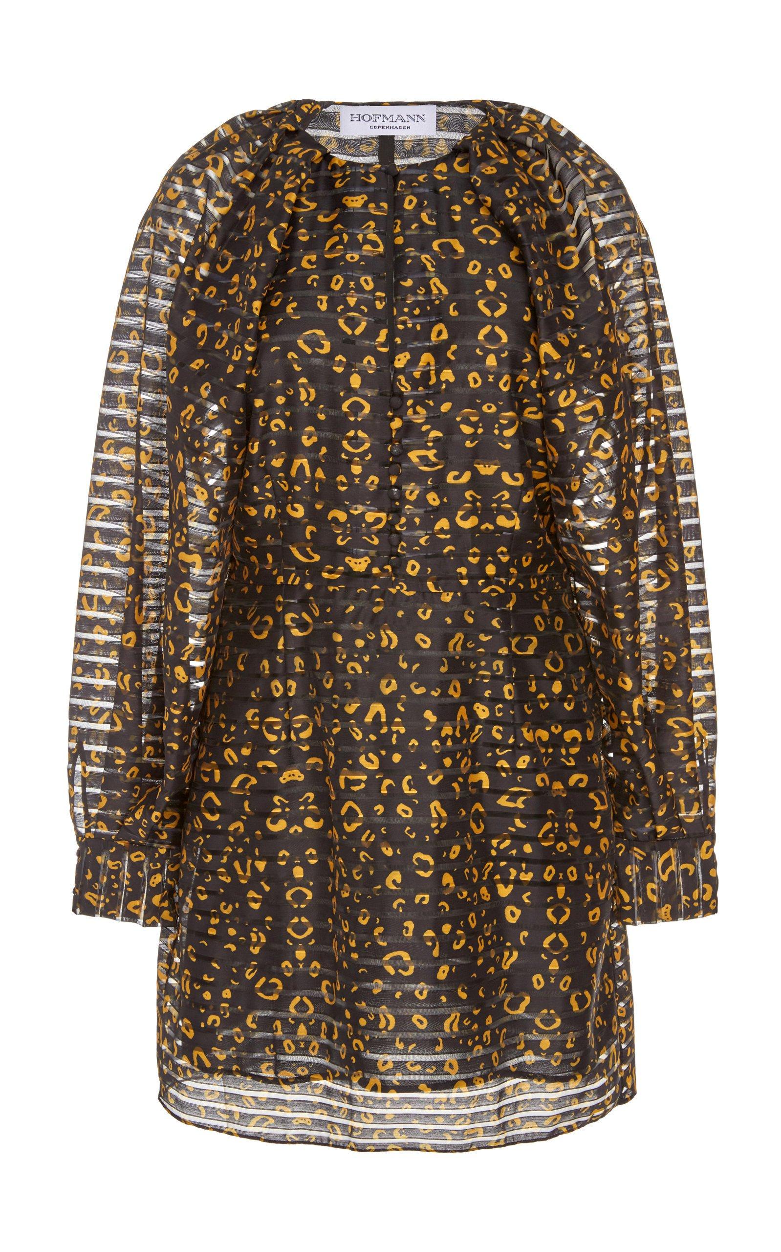 HOFMANN COPENHAGEN Alisa Puff Sleeve Printed Dress