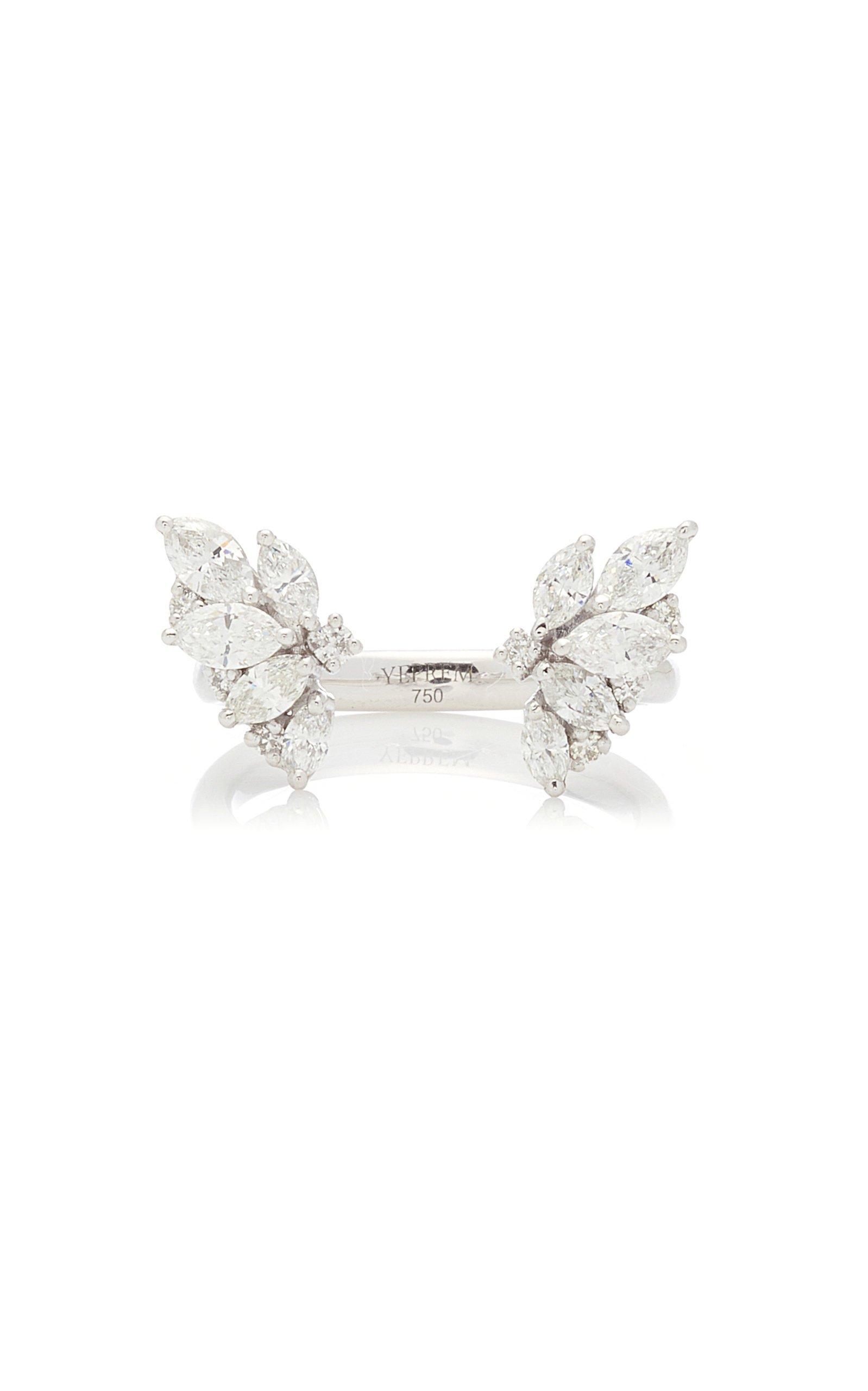 Yeprem 18K White Gold Y-Not Ring Size: 6.5