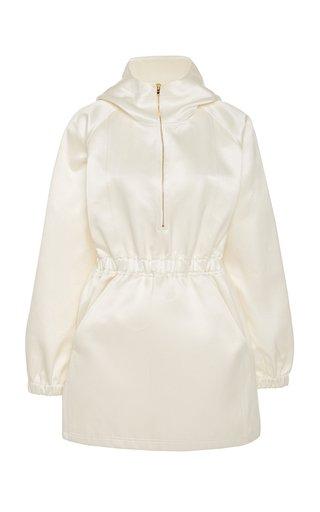 Brandon Maxwell Hooded Silk And Cotton-Blend Mini Dress - Penelusuran Google