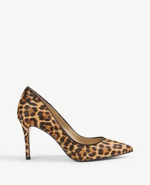 Mila Leopard Print Haircalf Pumps