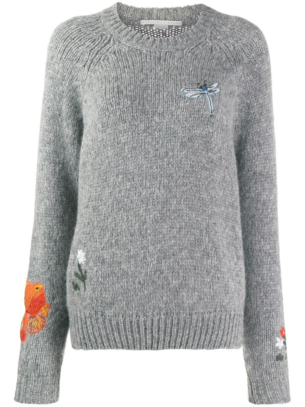 Stella McCartney Animal And Floral Print Motifs Sweater | Farfetch.com