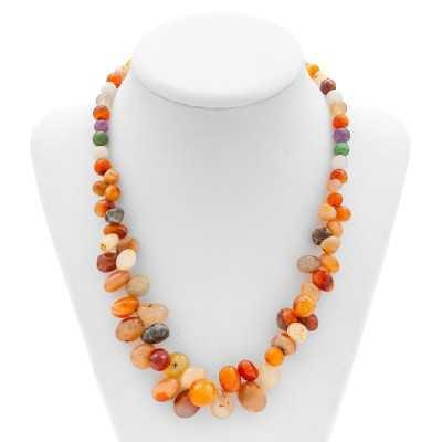 Multi-Agate Gemstone Necklace   Mystic Self LLC