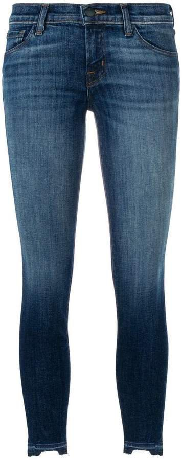 faded detail skinny jeans