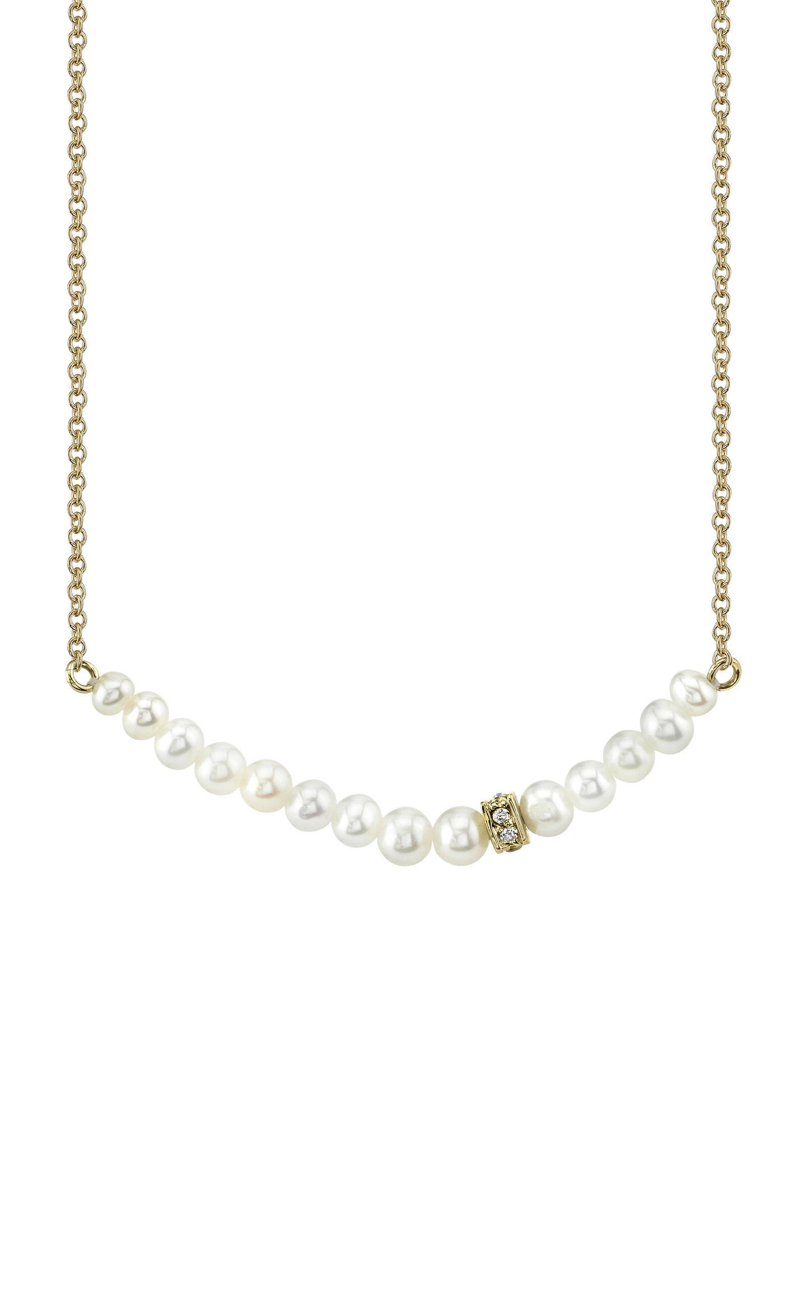 Sydney Evan Graduated Pearl Necklace