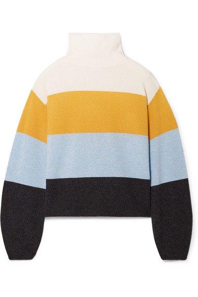 Veronica Beard | Faber oversized striped cashmere turtleneck sweater | NET-A-PORTER.COM
