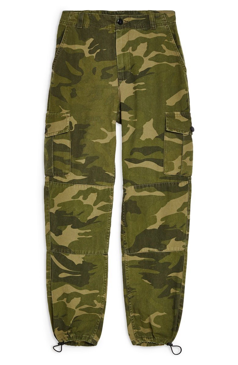 Topshop Camo Print Cargo Pants (Petite)   Nordstrom