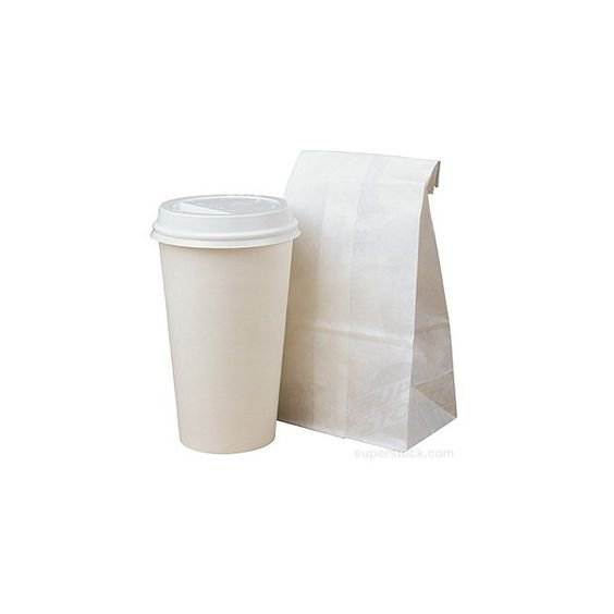 Paper cup and bag