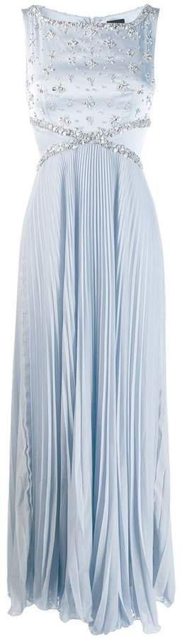 Ermanno Ermanno embellished sleeveless gown